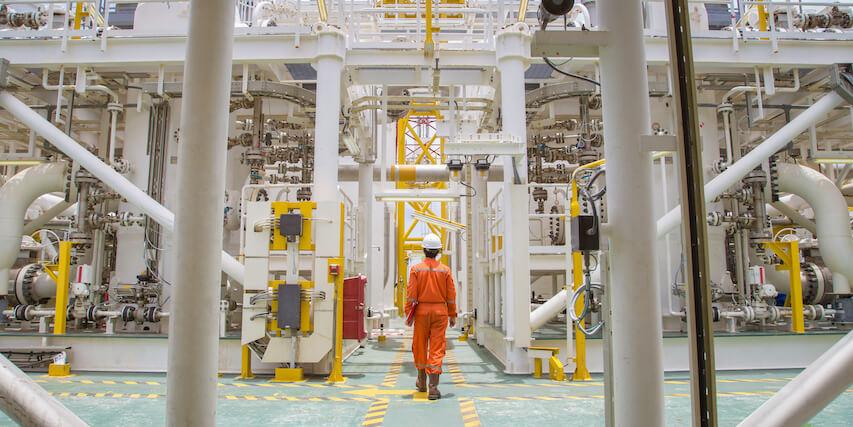 oil drilling rig men in uniform
